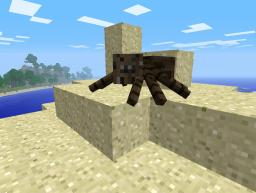 Brown Spider? I'm not playing Survival test! Minecraft Texture Pack