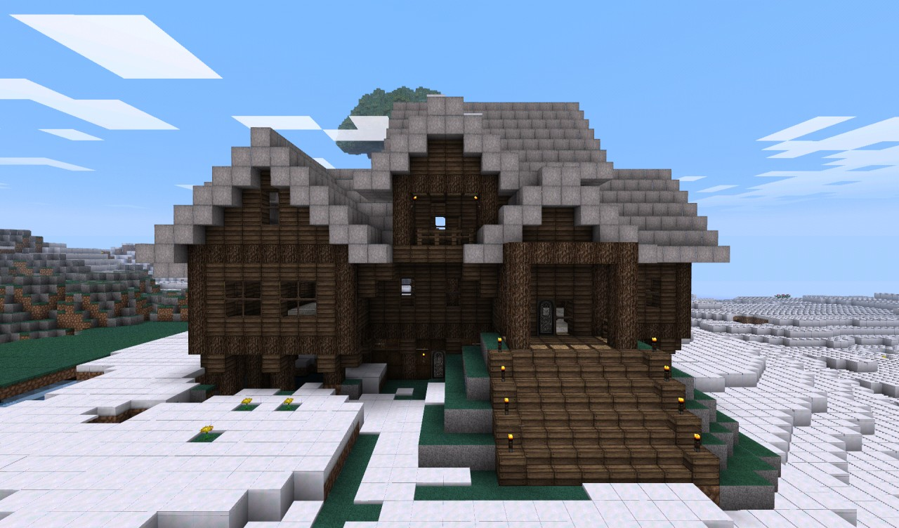 . Log cabin style house Minecraft Project