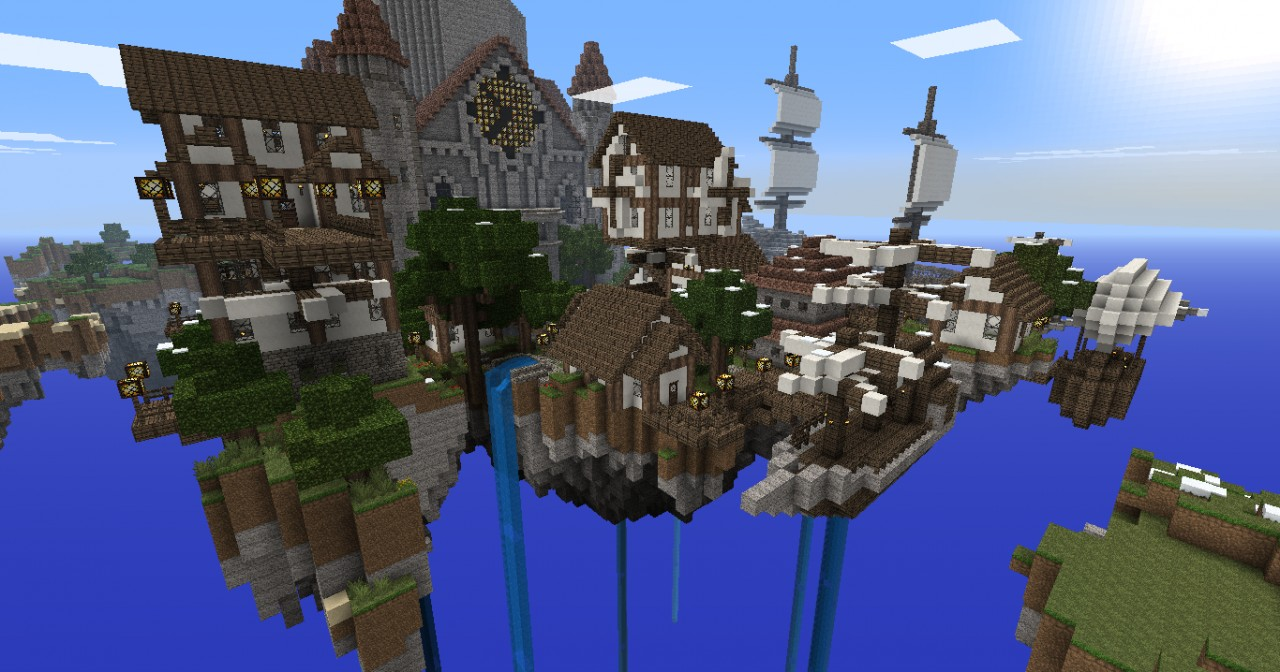 Cloudshire - Steampunk/Victorian styled town in the sky ...