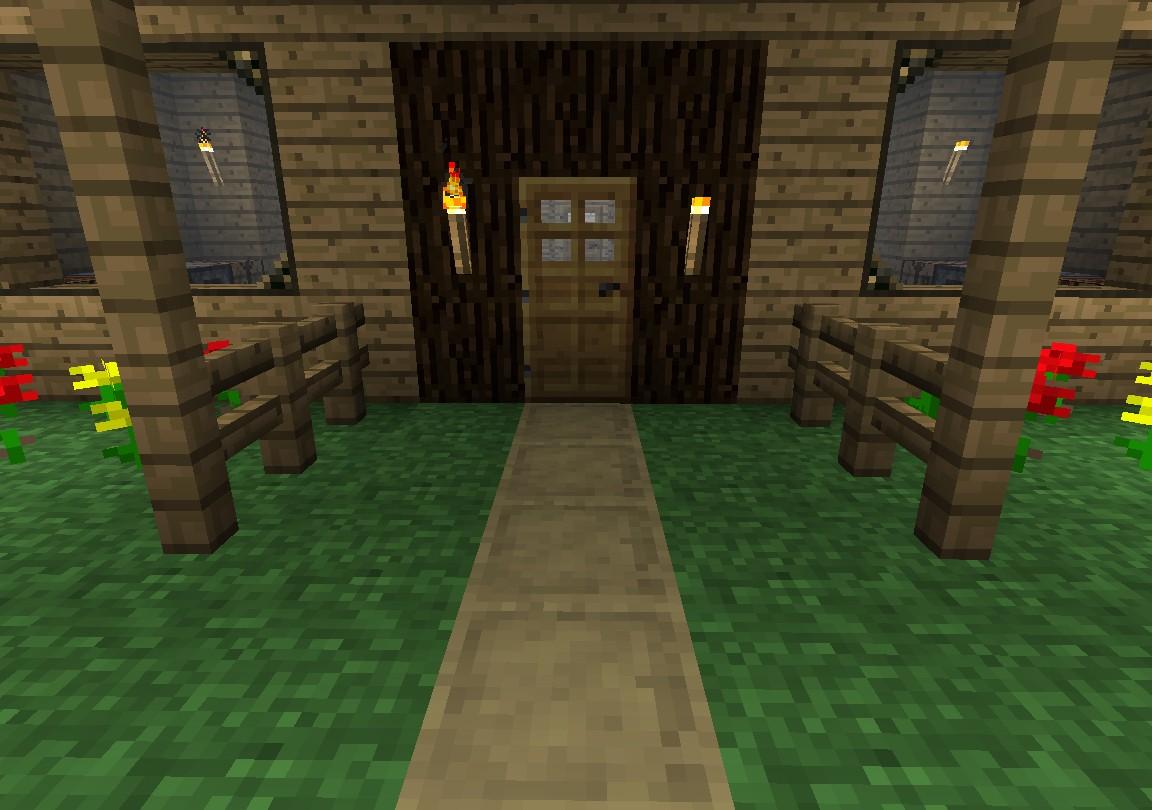Front door of cabin