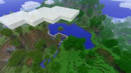 Dam !!!  with small island in middle and with SECRET !!! Minecraft Map & Project