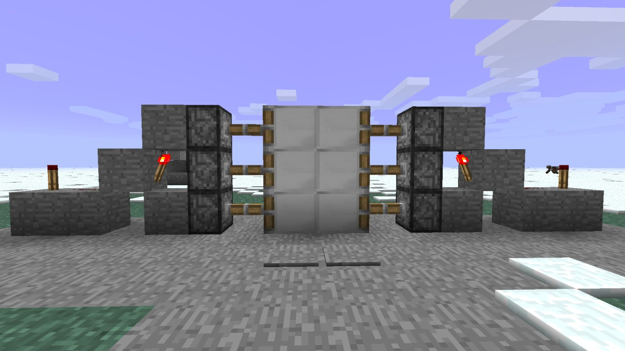 Minecraft Redstone Door Tutorial Gambleh Nn