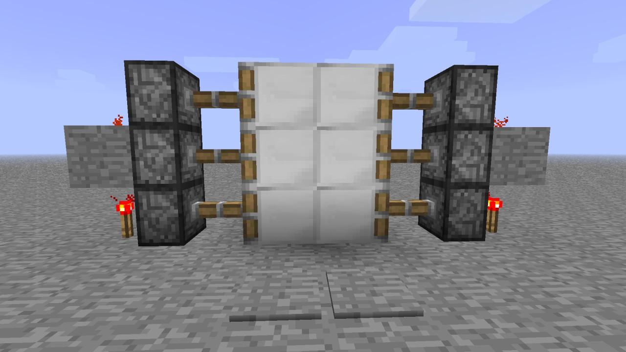 finished door & Most Compact piston door ~ Video Tutorial Minecraft Project Pezcame.Com