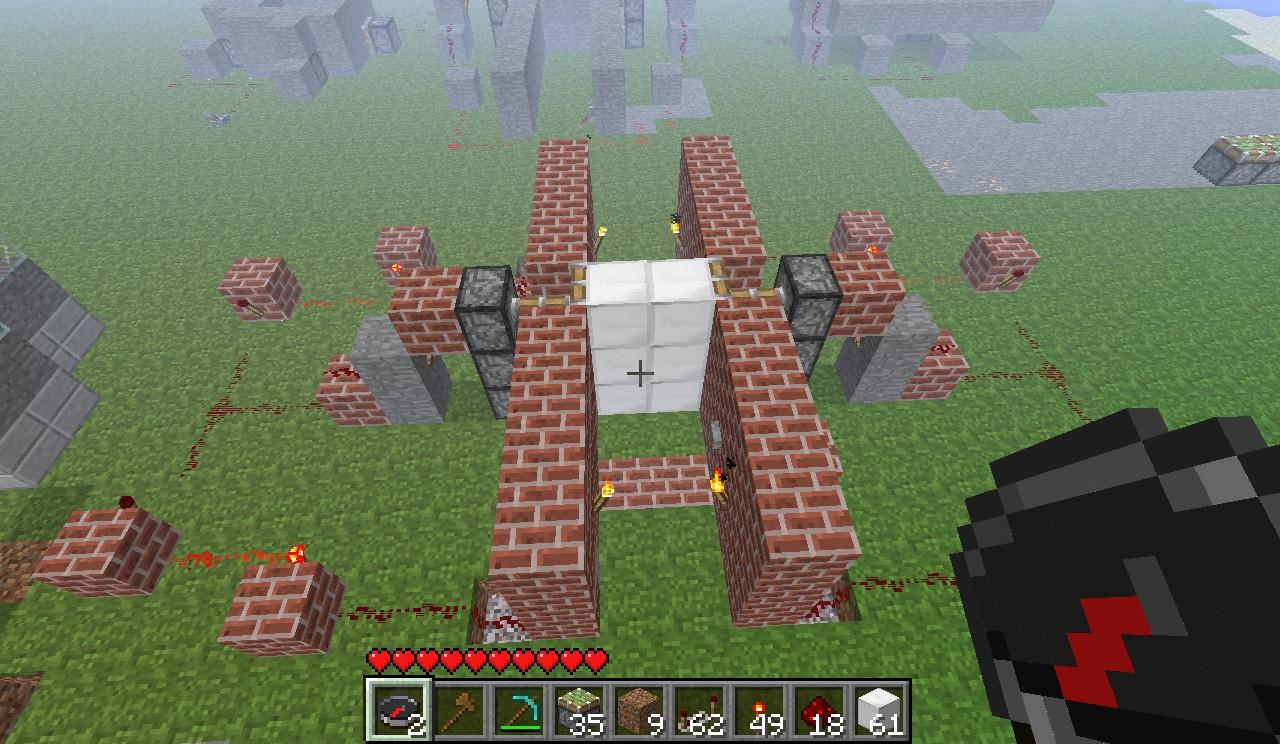 Two Way Piston Door Minecraft Project Switch Redstone Birds Eye View