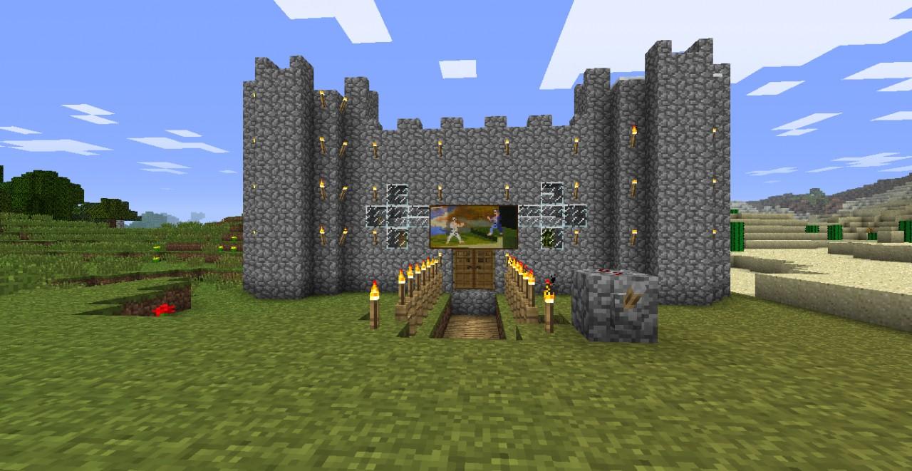 Private Castle With Piston Bridge Minecraft Project