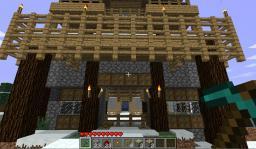 Piston Gatehouse. Minecraft