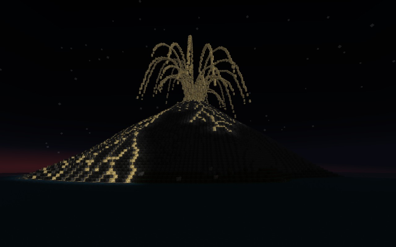 How it looked when I built it with glowstone.