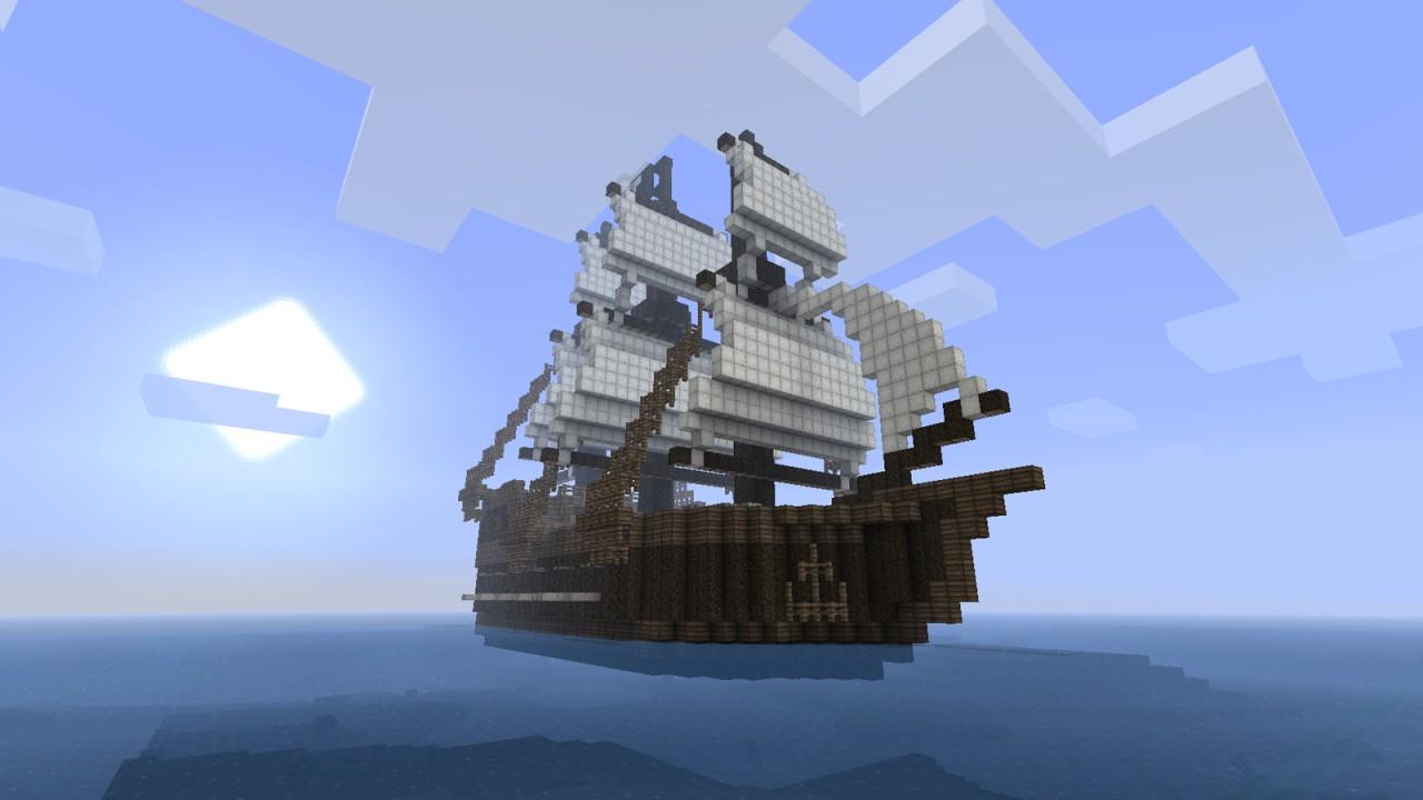Pirate Ship Minecraft Design Pirate ship colouredPirate Ship Minecraft Design
