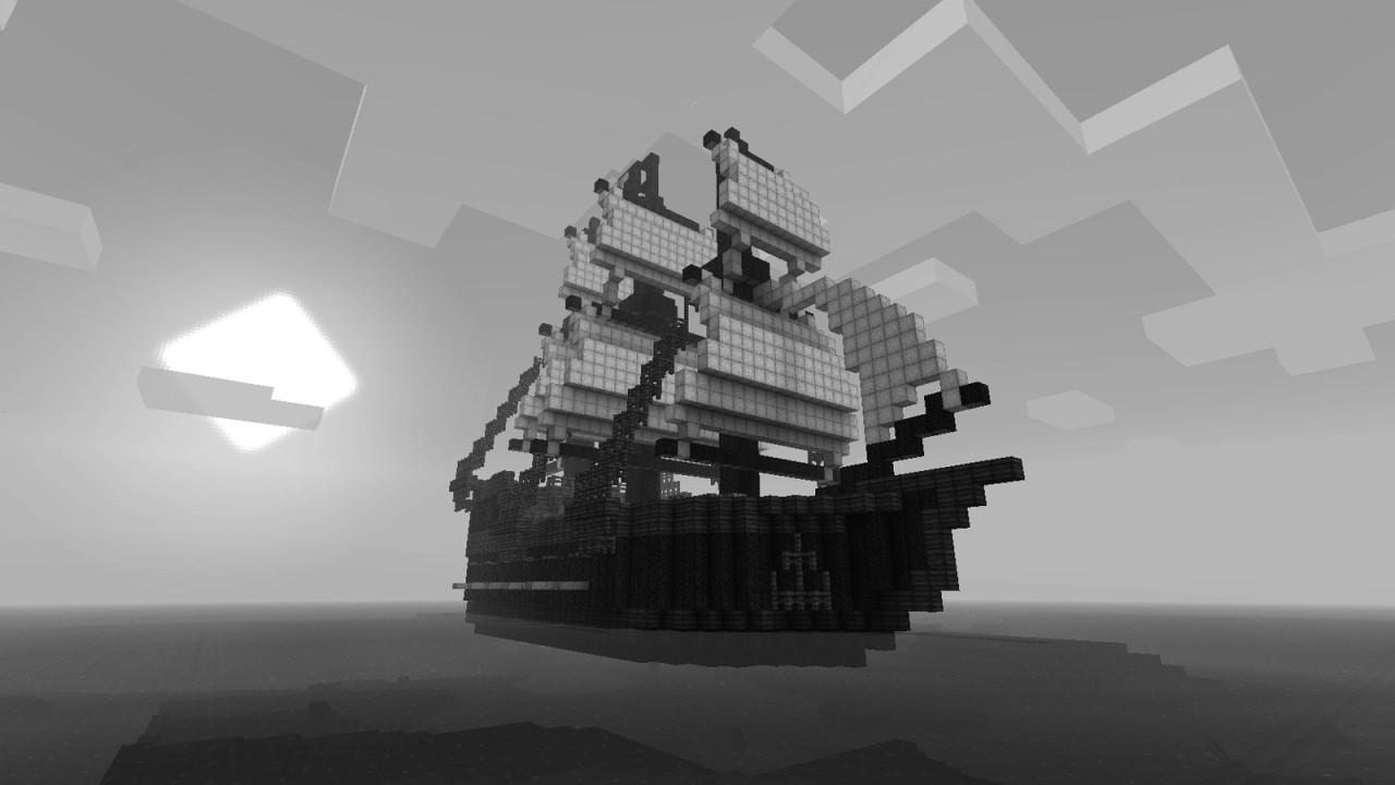 Pirate Ship Grayscale