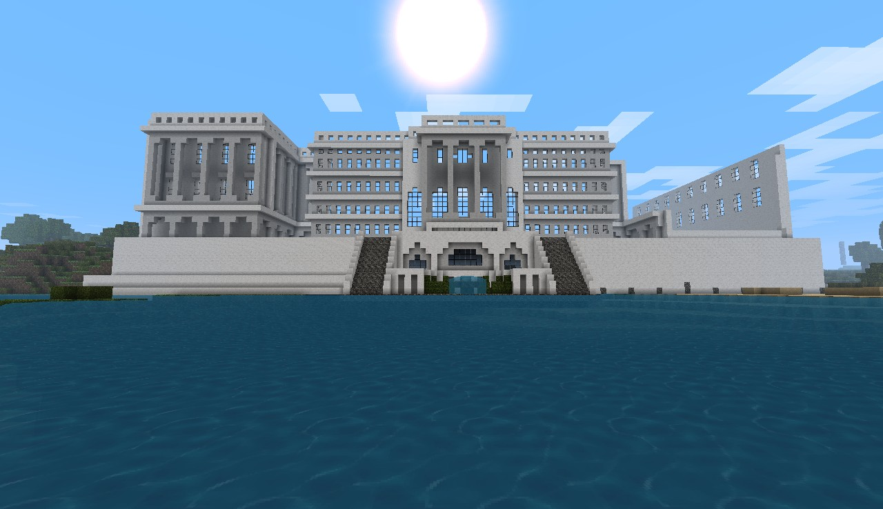 A front view of the Capitol at 15% done