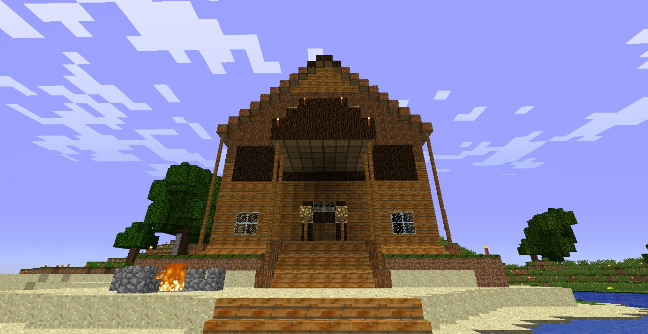 how to build a huge wooden house in minecraft