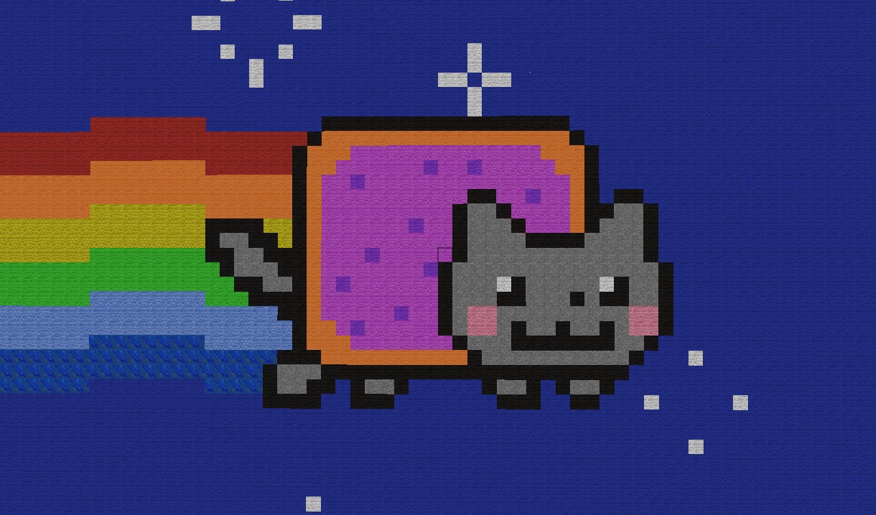 nyan cat  pixel art  minecraft project