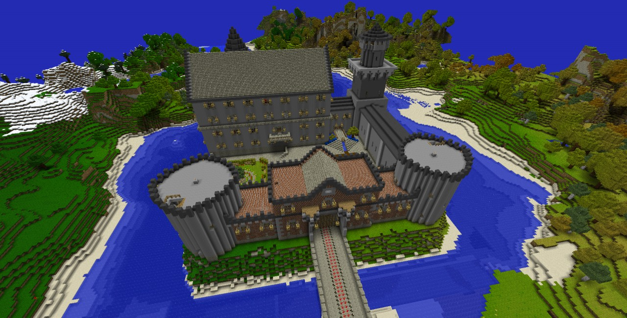 awesome castle  world save  schematic  minecraft project