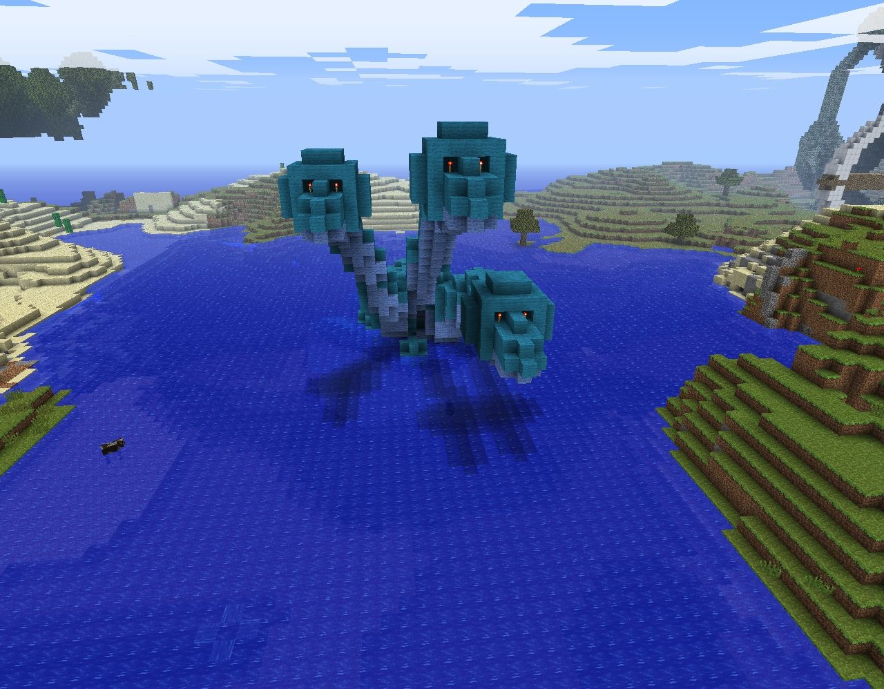 how to make a hydra dragon in minecraft