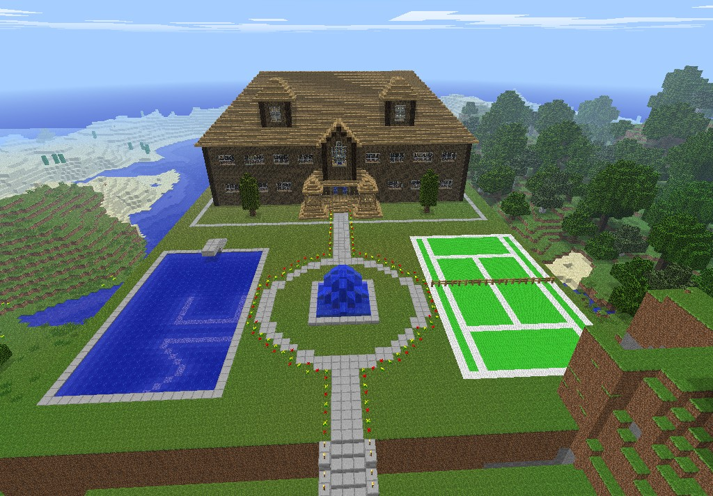 Epic house minecraft project for Nice house in the world