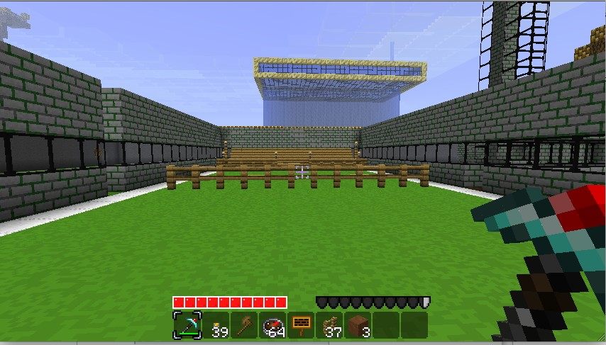 how to build a tennis court in minecraft