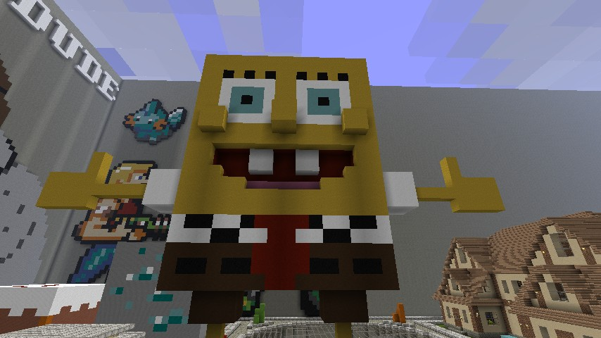 Get Inspired For Minecraft Pixel Art Spongebob @KoolGadgetz.com