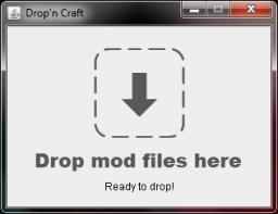 Drop'n Craft - Mod Installer Minecraft Mod