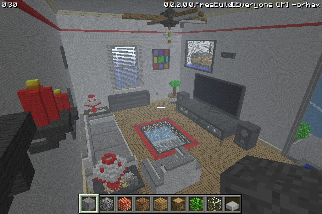 Living Room Minecraft Project