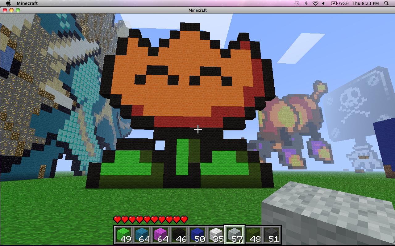 SMW Fire Flower Minecraft Project