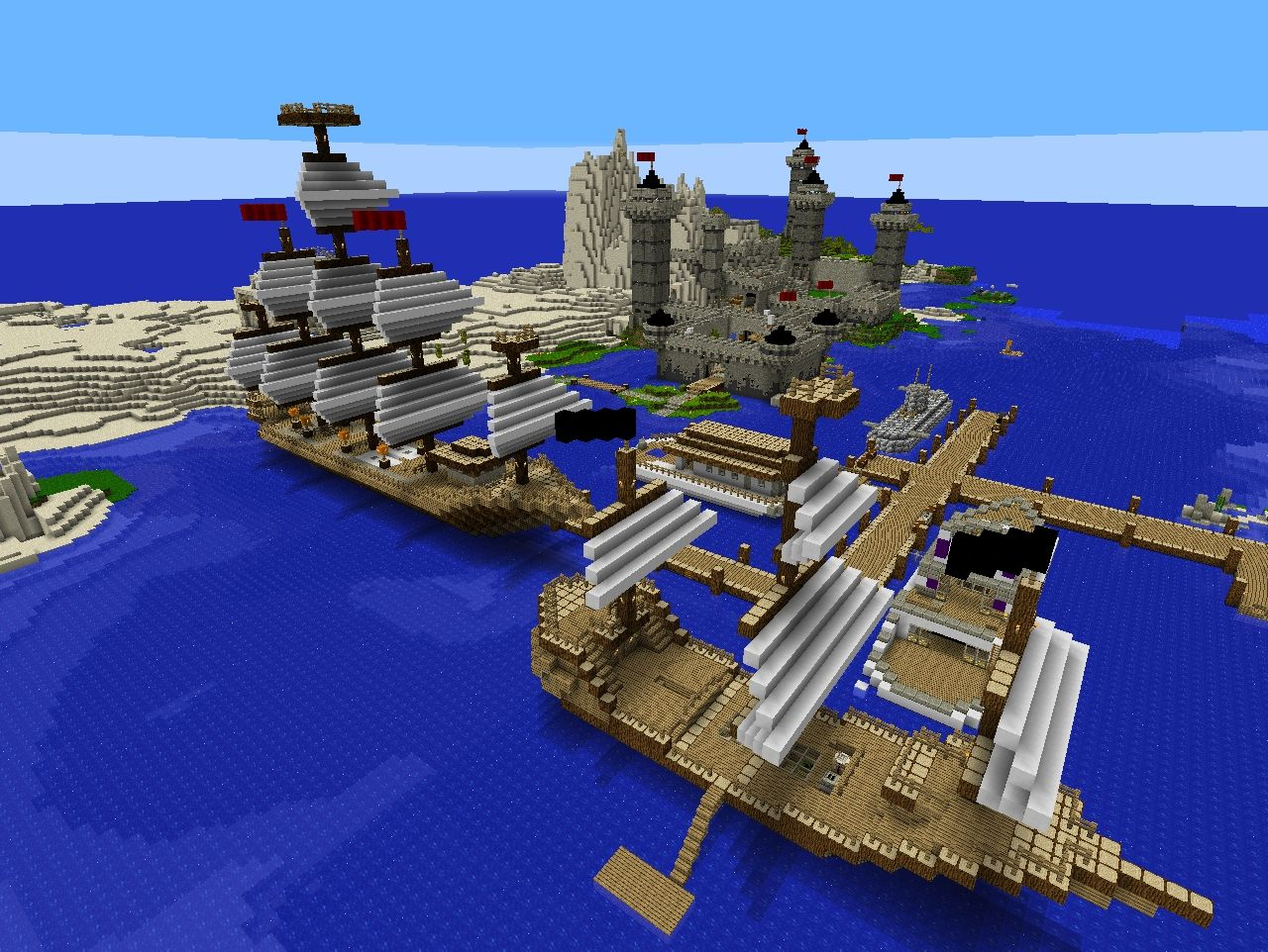 how to build a pirate ship in minecraft