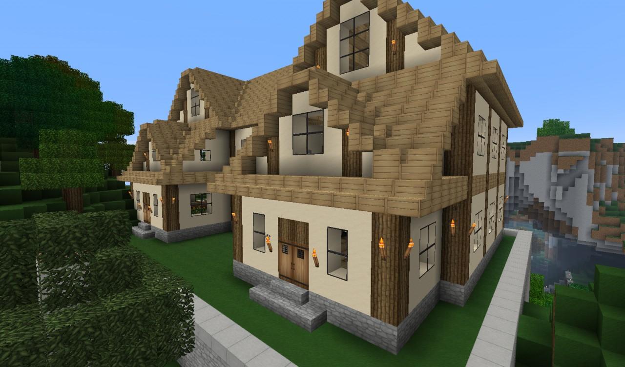 Как построить красивый двухэтажный дом в майнкрафте