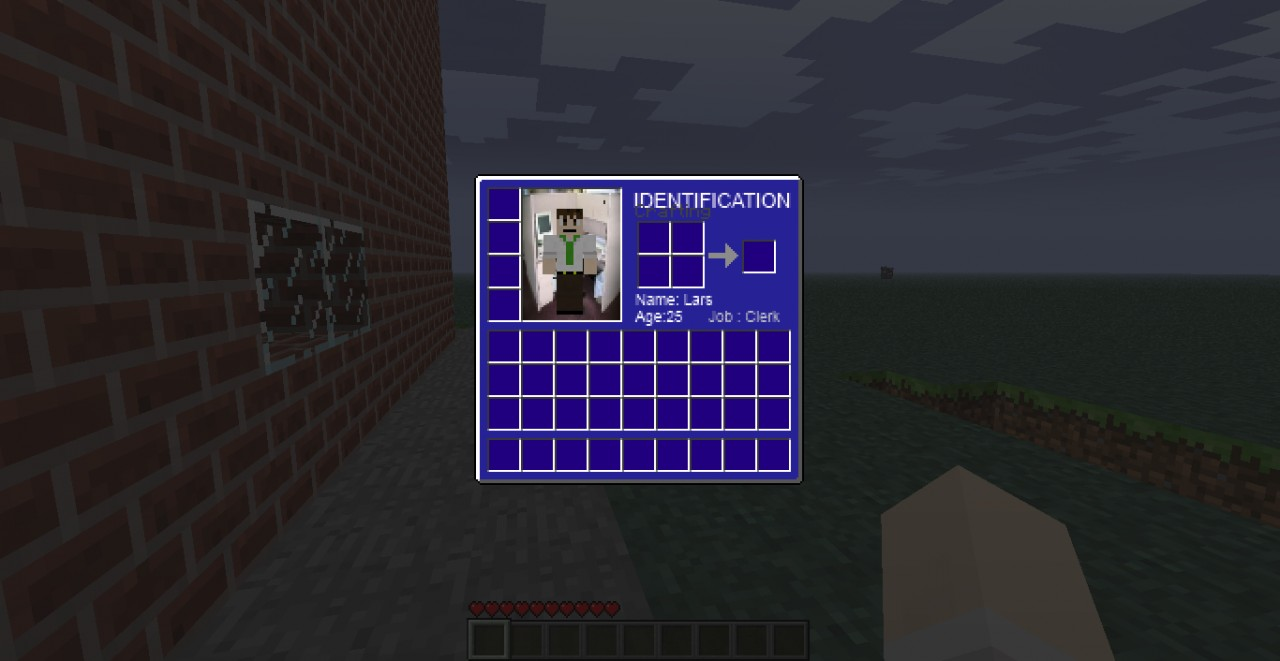 The preview for the inventory