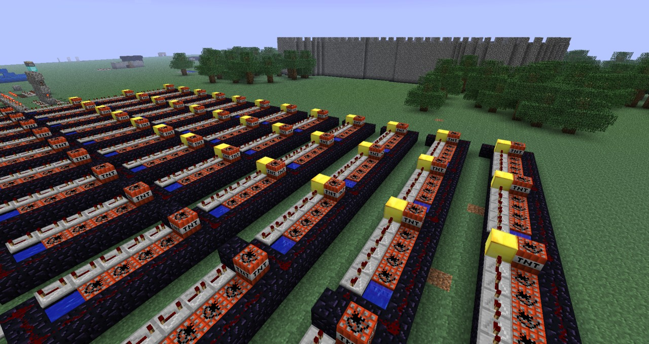 Progress Lighting Lucky Collection 33 56 In 4 Light: Self Regenerating Castle VS. 48 TNT Cannons Minecraft Project