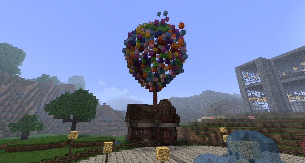 up balloon the ballon house from the movie up minecraft project