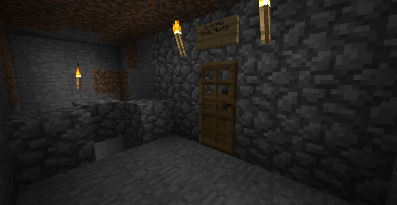 Basement. Mine on the left, storage on the right.