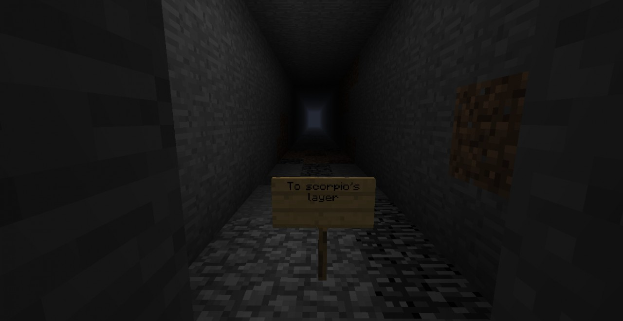 My crazy basement 'roommate''s hallway. On bedrock. (Traps gallore down there.)
