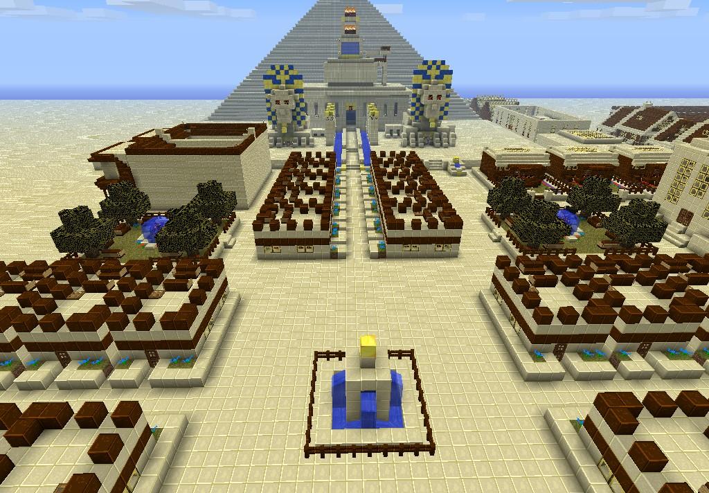 Minecraft Egypt Map.Egyptian City Minecraft Project