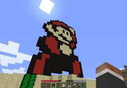 Mario Pixel Art + Other Creations Minecraft Map & Project