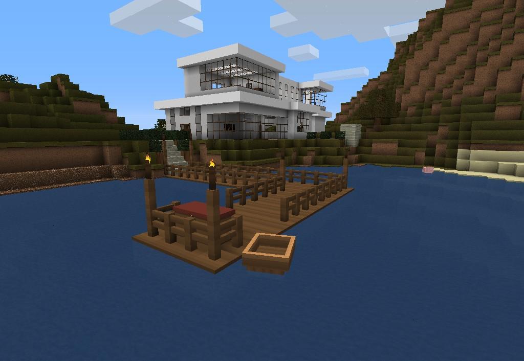 Minecraft construes modernas casas de piedra modernas for Casa moderna lyna