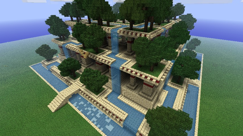 Hanging gardens minecraft project - Construction studio dans jardin ...