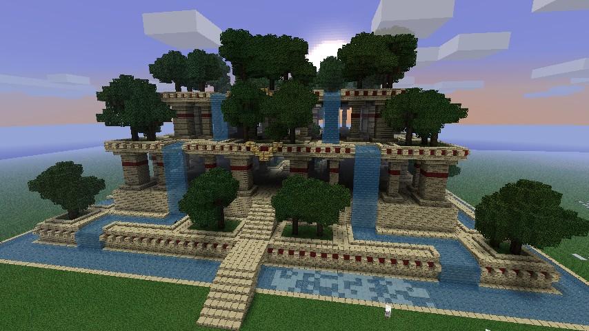 Hanging gardens minecraft project for Garden designs minecraft