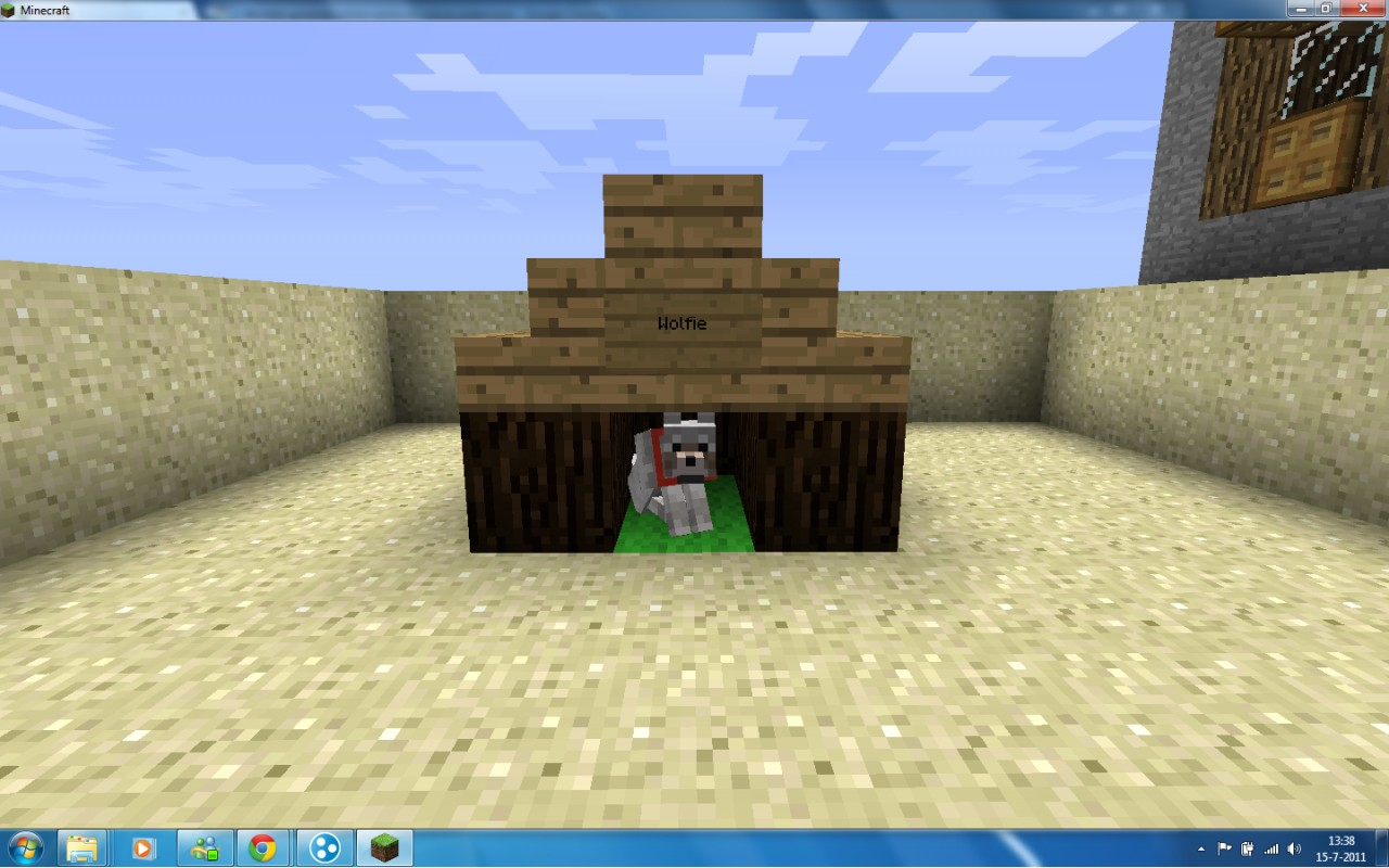 How To Make A Dog House In Minecraft