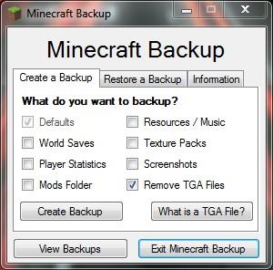 Create a Backup