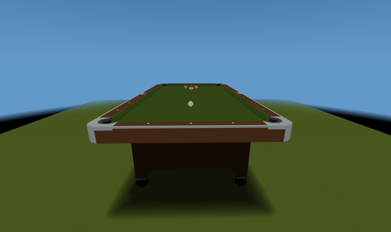 Build your own pool table plans - End View