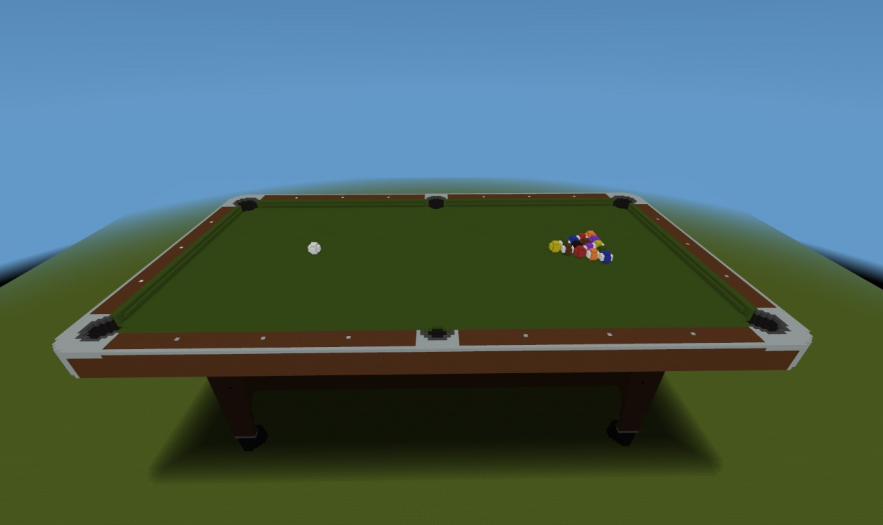 how to build a pool table in minecraft