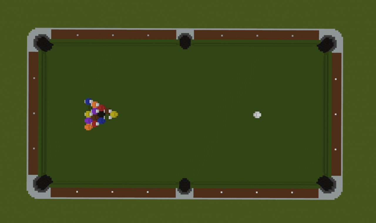 Giant pool table minecraft project for How to build a billiard table