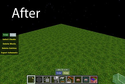 After Natural Textures Mod is installed the quilt-like pattern goes away.