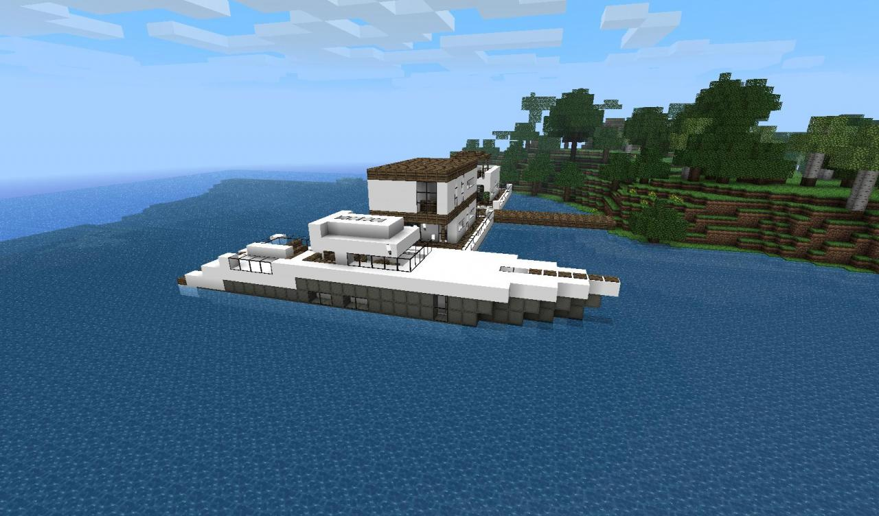 Minecraft Speedboat Build