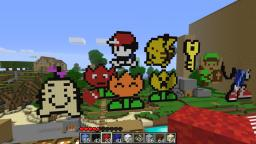 just finished red and pikachu and mr saturn Minecraft Map & Project
