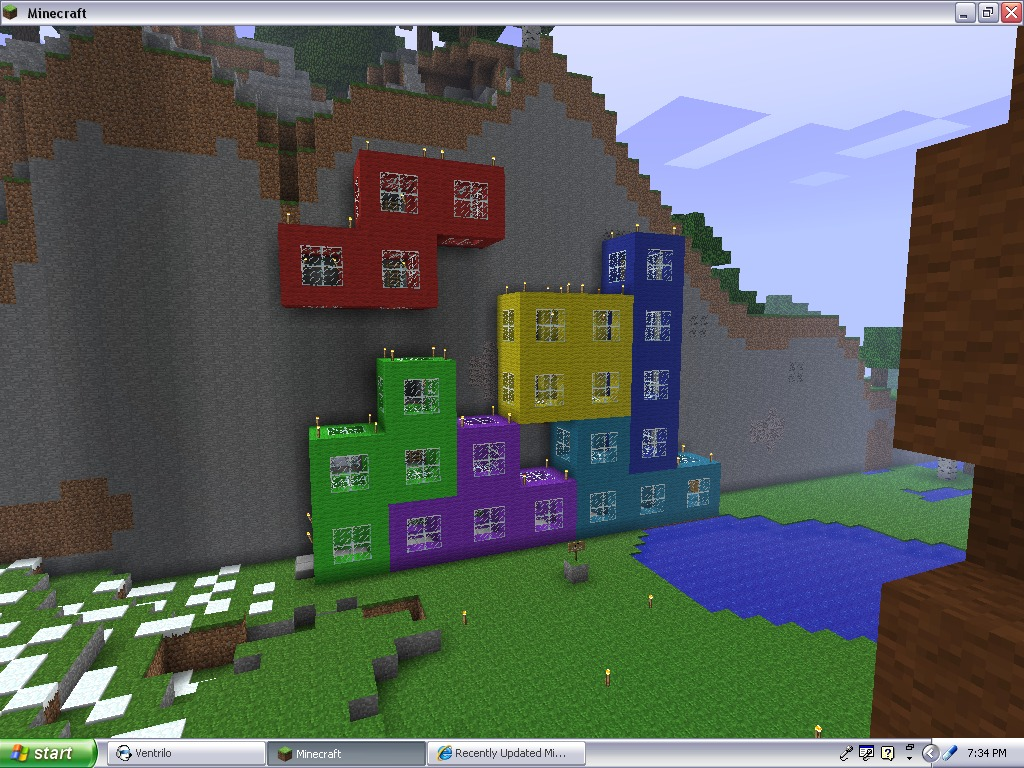 Epic Tetris House Minecraft Project
