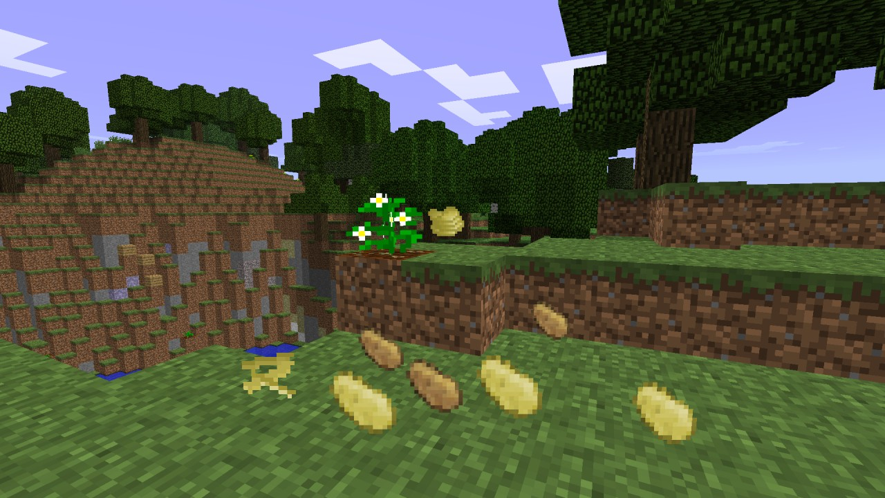 1 0 0 Farmable Potatoes Minecraft Mod