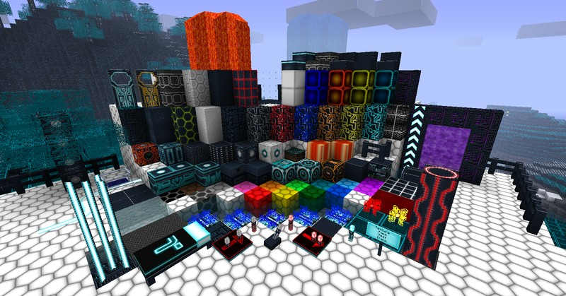 Tron Texturepack 1.7 64x res update Minecraft Texture Pack