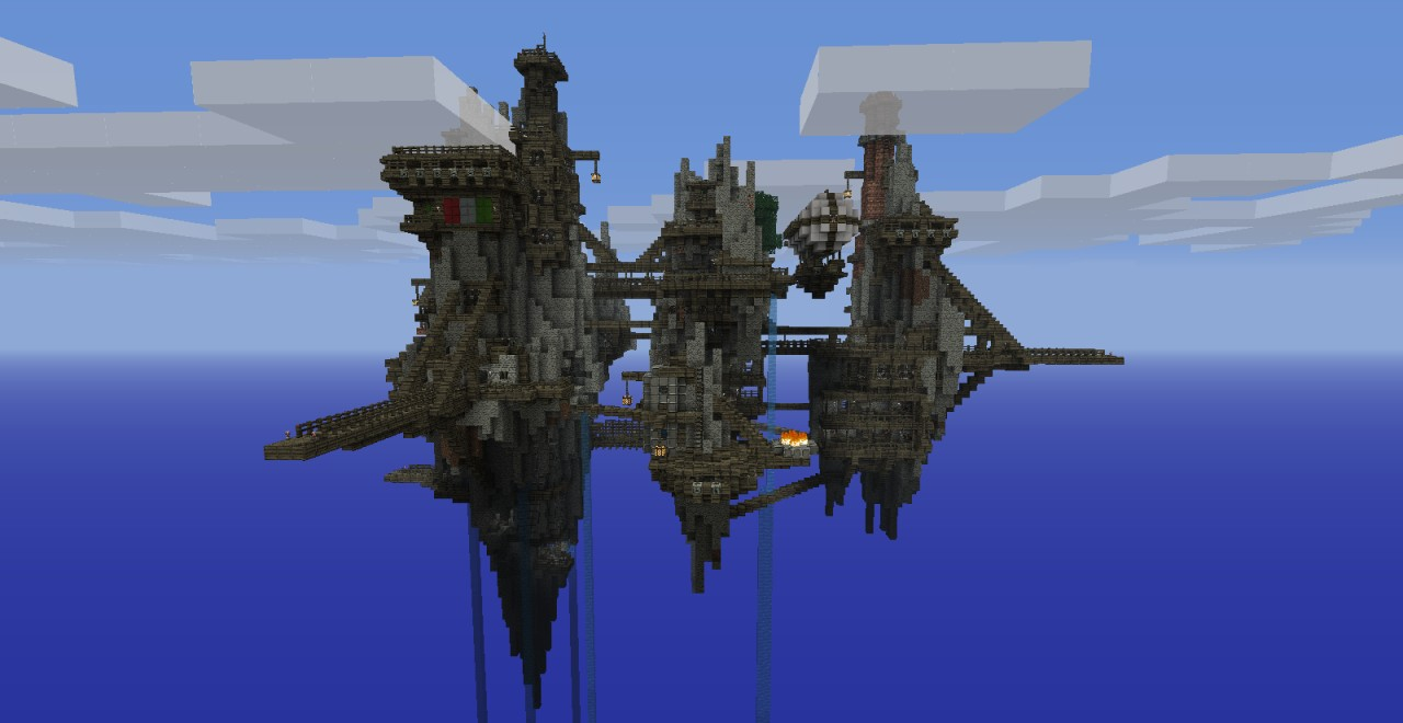 Airship Fleet  Fortress  Minecraft Project