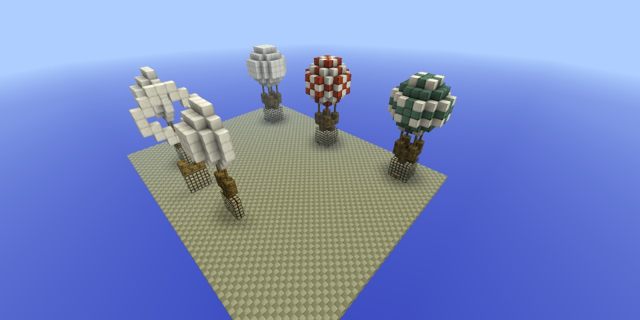 How to make small hot air balloons minecraft project for How to make a small air balloon