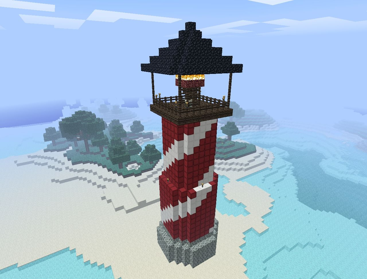 Candy Cane Lighthouse Minecraft Project